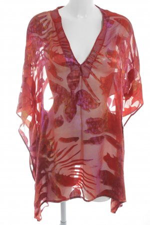 Epure de Lise Charmel Transparenz-Bluse abstraktes Muster Beach-Look