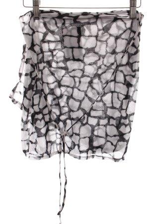 Epure de Lise Charmel Wickelrock weiß-schwarz Animalmuster extravaganter Stil