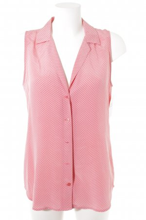 Equipment ärmellose Bluse rosa-weiß abstrakter Druck Casual-Look