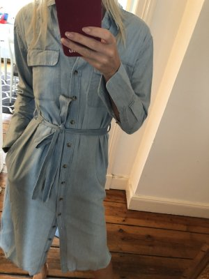 Equipment Blue Delany Denim Shirt Dress Jeanskleid Hemdblusenkleid aus Denim mit Gürtel