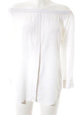Equipment Carmen-Bluse wollweiß klassischer Stil