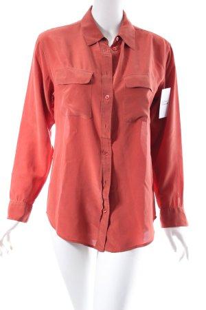 Equipment Hemd-Bluse rostrot schlichter Stil