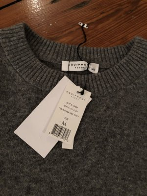 Equipment Kaschmirpullover in Grau Rundhals M Kaschmir Casmere Sweater