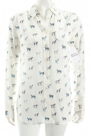 Equipment Langarm-Bluse Animalmuster Casual-Look