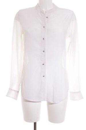 Equipment Langarm-Bluse weiß klassischer Stil
