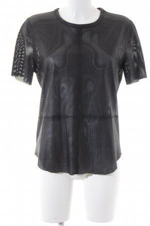 Equipment Lederbluse schwarz Street-Fashion-Look