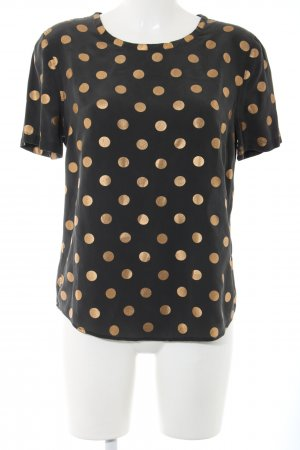 Equipment Silk Blouse black-gold-colored allover print casual look