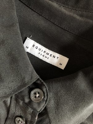 Equipment Zijden blouse zwart Zijde