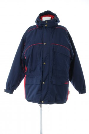 Equipment Winterjacke blau-rot Streifenmuster Casual-Look