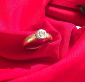 100 Gold Ring gold-colored