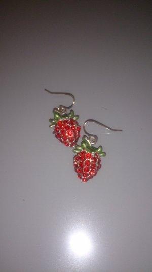 Erdbeer Ohrringe