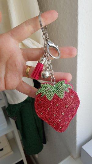 erdbeeren schlüssel anhänger