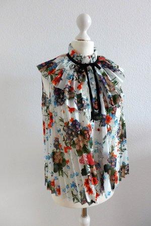 Erdem x H&M Limited Edition LE Bluse Blumen Blüten Plissee Falten Gr. 34 neu