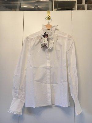 ERDEM X H&M Weiße Bluse aus Pima Baumwolle