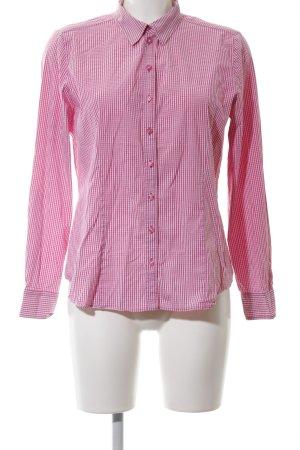 Erfo Hemd-Bluse weiß-pink Karomuster Casual-Look