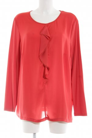 Erfo Langarm-Bluse rot Business-Look