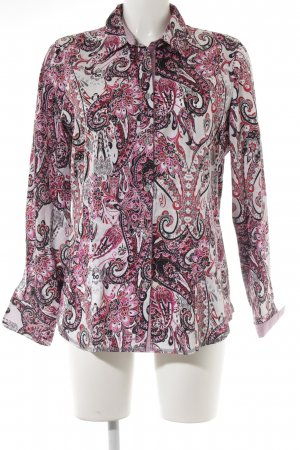 Erfo Langarm-Bluse Paisleymuster Casual-Look