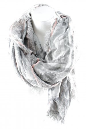 Erfurt Fringed Scarf abstract pattern casual look