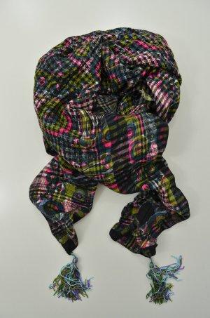 ERFURT LUXURY Schal Tuch ARAFAT STYLE WITH TASSELS Bommel Pink Print Mod. 5010