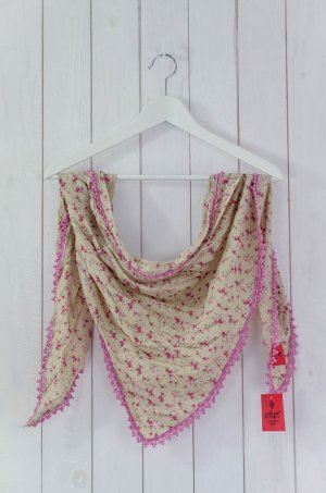Erfurt Summer Scarf beige-pink cotton