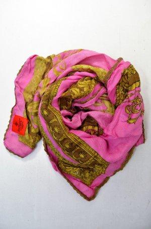 ERFURT LUXURY Tuch Schal Accessoires Pink Gold Braun Print Viskose Mod. 3473