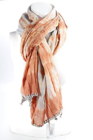 Erfurt Schal orange-graubraun Batikmuster Hippie-Look