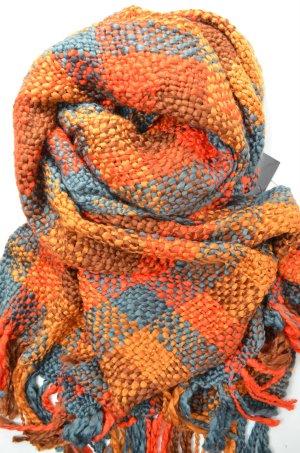 ERFURT Schal Strickschal Bouclé Rot Braun Orange Anthra Fransen Acryl Mod. 30034