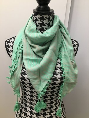 Erfurt Neckerchief light grey-mint viscose