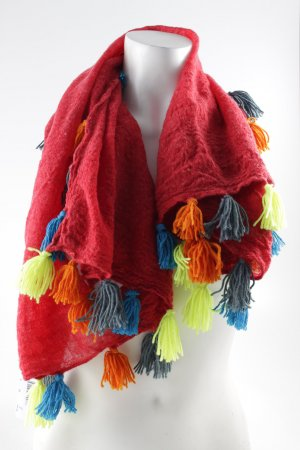Erfurt Bufanda de lana multicolor estilo extravagante