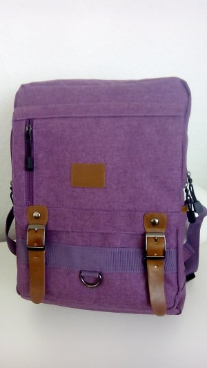 School Backpack violet polyester