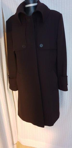Erich Fend Abrigo de lana marrón-marrón oscuro Lana