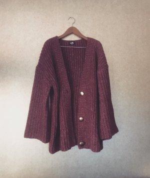 erikafarbene strickjacke / fuchsia / vintage / oversized / cardigan