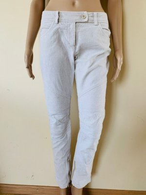 Ermanno Scervino Pantalón de pana gris claro-blanco puro