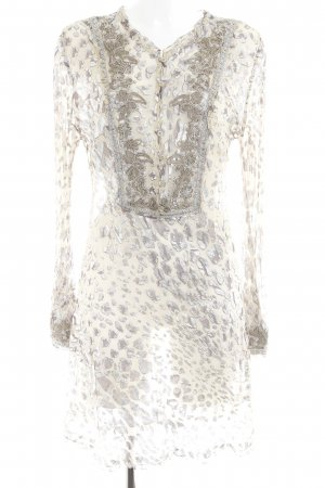 Ermanno Scervino Chiffonkleid Leomuster Casual-Look
