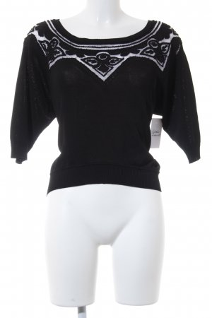 Ermanno Scervino Cropped Shirt schwarz Casual-Look