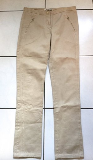 ERMANNO SCERVINO Hose Chino Beige 34-36 Jeans Baumwolle Cotton Pants Brown XS-S