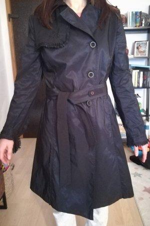 Ermanno Scervino Gabardina tipo vestido negro