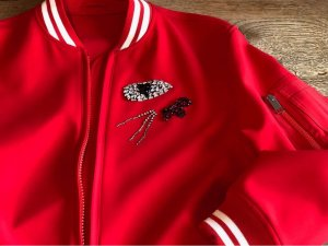 Ermanno Scervino College Jacket white-red