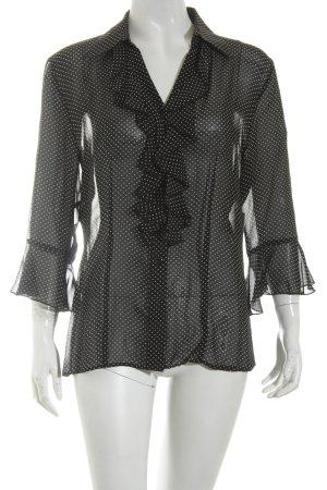 Erwastil Transparenz-Bluse schwarz-weiß Punktemuster Business-Look