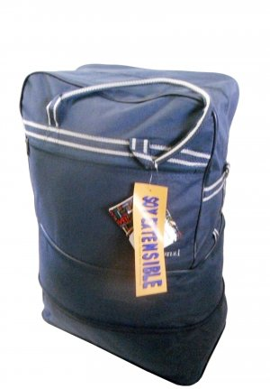 Reistas donkerblauw Polyester