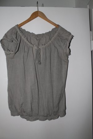 edc by Esprit Shirt Tunic khaki-green grey cotton