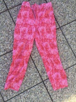 Escada 3/4 Hose floral Print Gr: 26