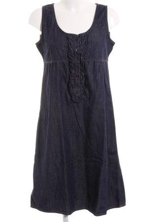 Escada A-Linien Kleid dunkelblau Casual-Look
