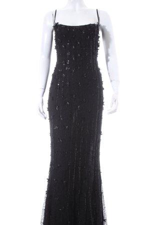 Escada Abendkleid schwarz Spitzen-Optik