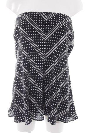 Escada Mouwloze blouse zwart-wit gestippeld patroon elegant
