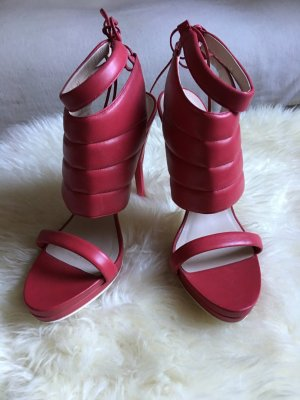Escada High Heel Sandal red leather