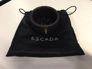 Escada Bangle black brown leather