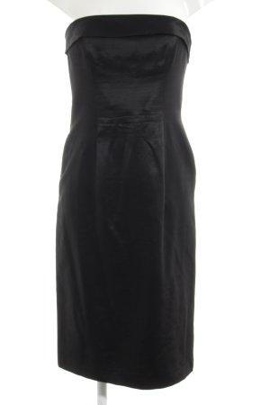 Escada Vestido bandeau negro elegante