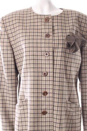 Escada Blazer graugrün-khaki Karomuster Vintage-Artikel