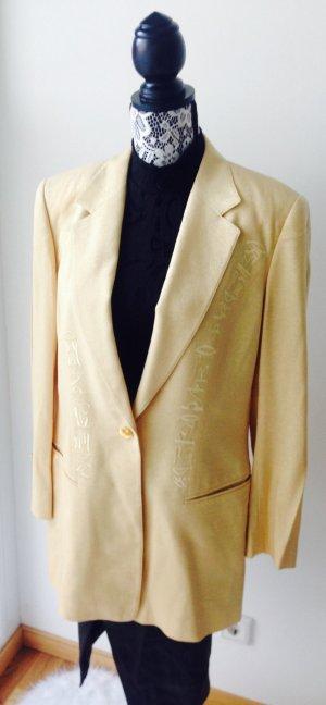 Escada Blazer Jacke Business Cardigan Größe 40, Vintage, Gold